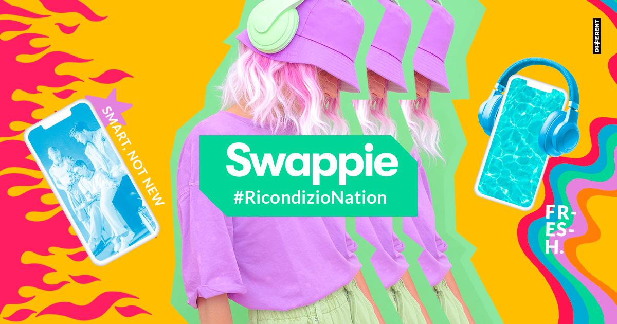 Swappie #RicondizioNation,il nuovo entertainment content Differentche racconta la filosofia del ricondizionato a GenZ e Millennial.
